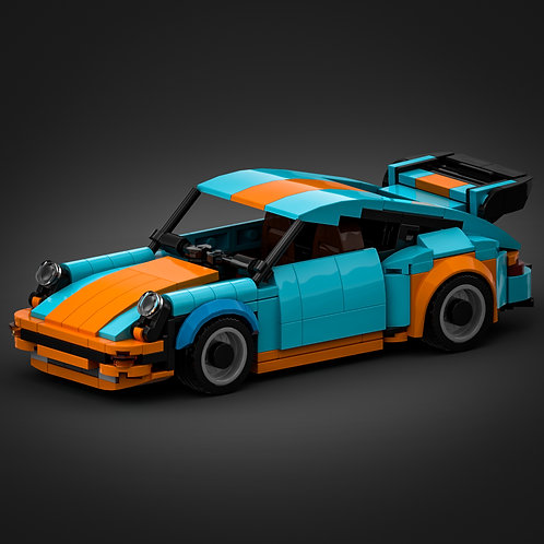 Inspired by Porsche 930 Turbo - Gulf (instructions)