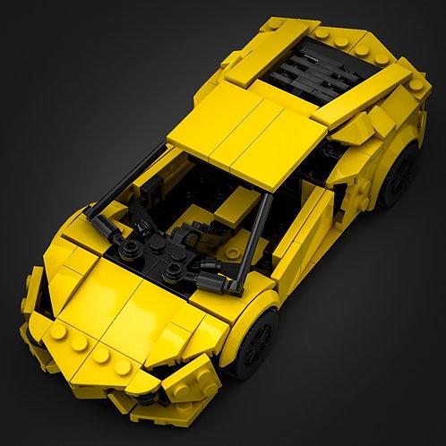 Inspired by Lamborghini Aventador - Yellow (instructions)