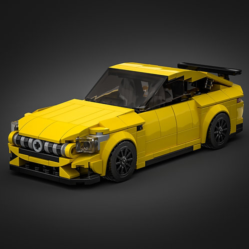 Inspired by Mercedes AMG GT 4-door - Yellow (instructions)