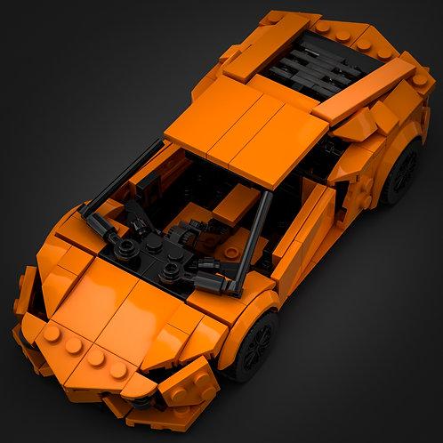 Inspired by Lamborghini Aventador - Orange (instructions)