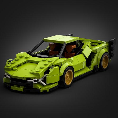 Inspired by Lamborghini Sian (instructions)