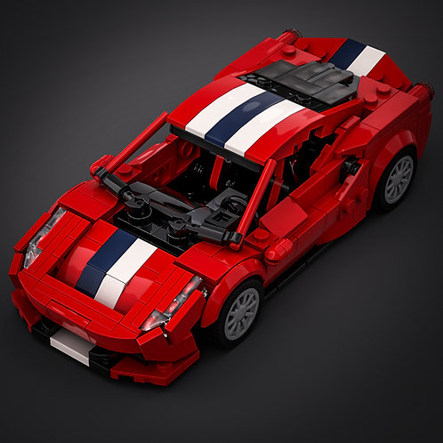Inspired by Ferrari 488 Pista - Red (instructions)