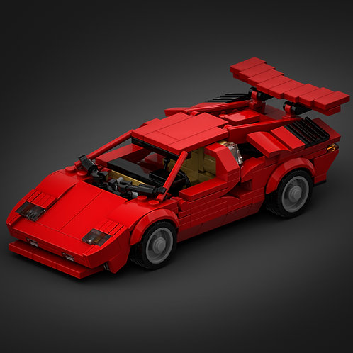 Inspired by Lamborghini Countach - Red (instructions)