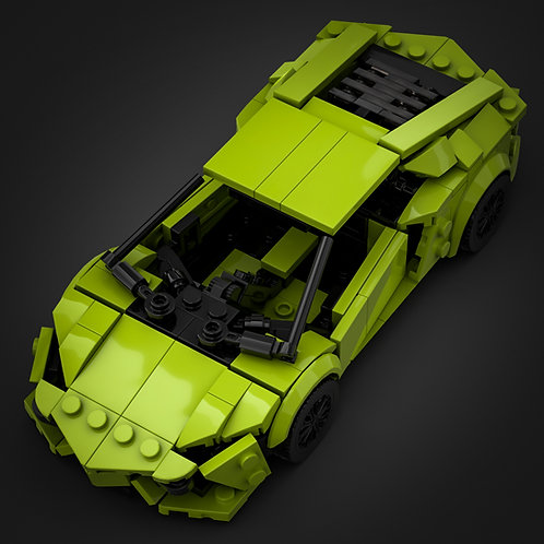 Inspired by Lamborghini Aventador - Lime (instructions)