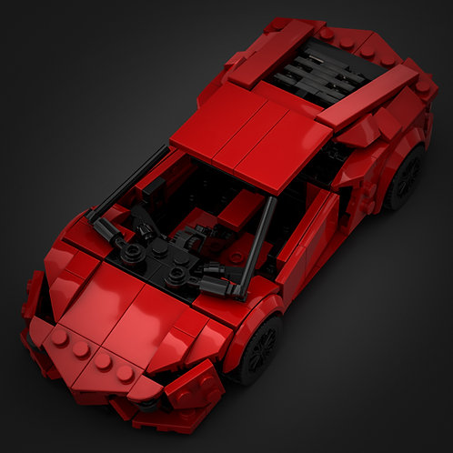 Inspired by Lamborghini Aventador - Red (instructions)
