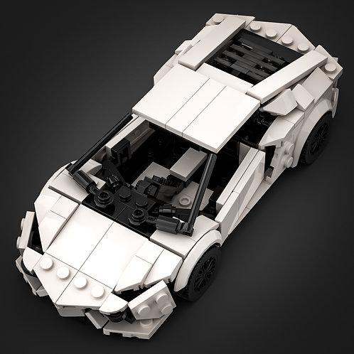 Inspired by Lamborghini Aventador - White (instructions)