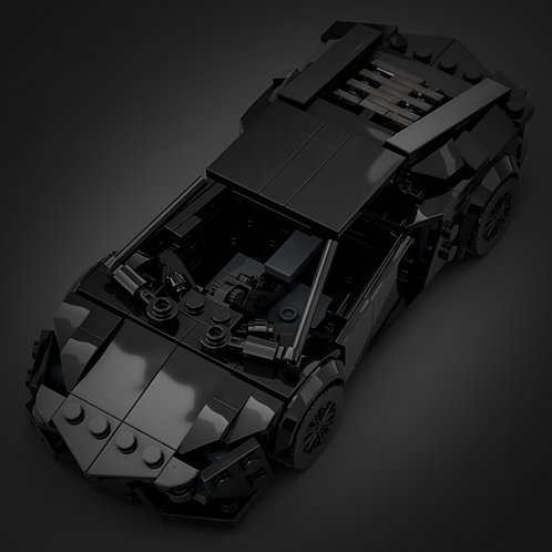 Inspired by Lamborghini Aventador - Black (instructions)
