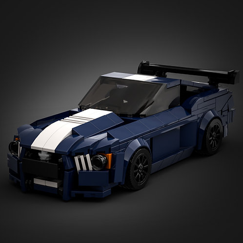 Inspired by Ford Mustang Shelby GT500 - Dark Blue (instruction)