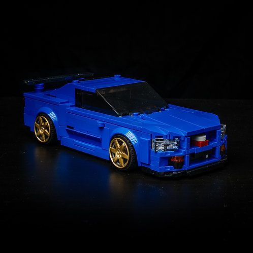 Inspired by Nissan Skyline R34 - Blue (Set)
