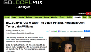 Q&A with 'The Voice' finalist, Portland's own Taylor John Williams
