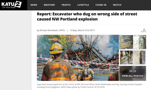 Excavator who dug on wrong side of street caused NW Portland explosion: Report