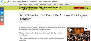 2017 solar eclipse could be a boon for Oregon tourism