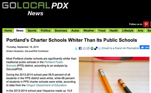 Portland's charter schools whiter than its public schools