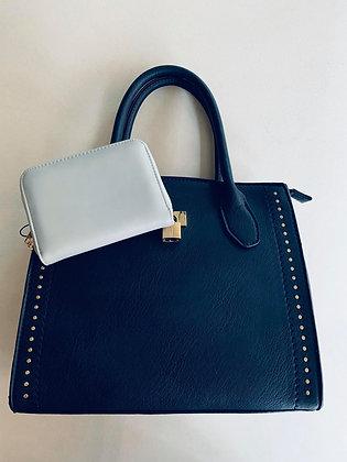Vintage blue + portefeuille