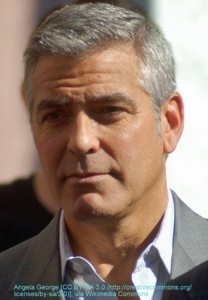 George Clooney, grey hair answers