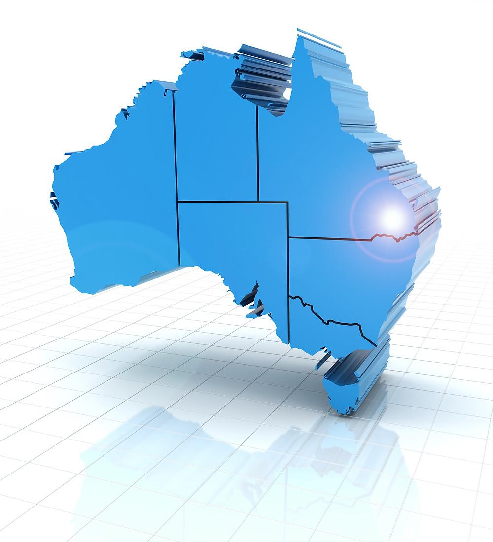 Australia Map, Online naturopathy consultation
