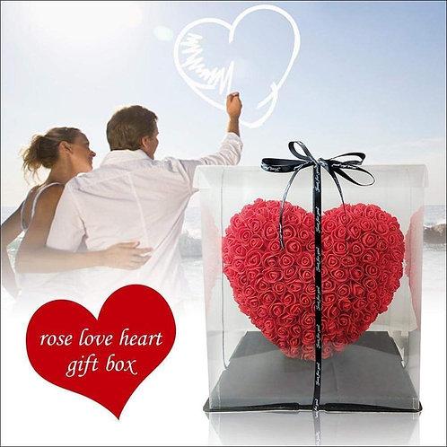 Preserved Rose Heart Flower Gift Box