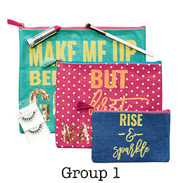 Cosmetic Bag Set   3 Pieces