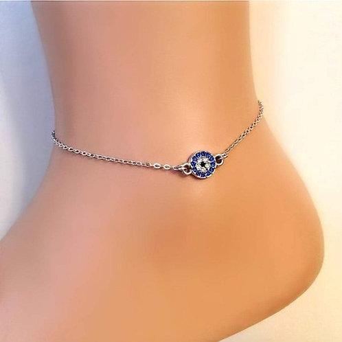 Evil Eye Crystal Anklet Ankle Bracelet