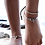 Thumbnail: Vintage Double Beaded Starfish Anklet Ankle Bracelet