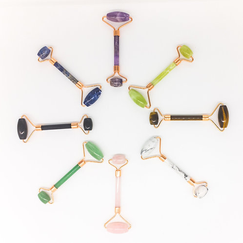 Copper & Crystal Face Roller - Massager