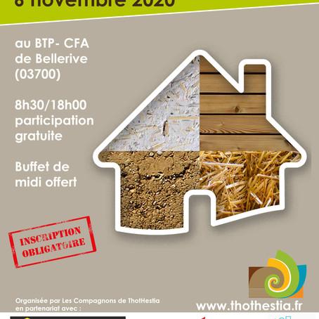 """Journée interprofessionnelle """"Construire en biosourcés"""", Le Vernet (03)"""
