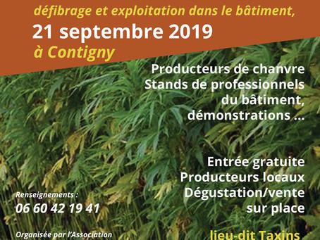 Journée Chanvre et matériaux biosourcés, Contigny (03)