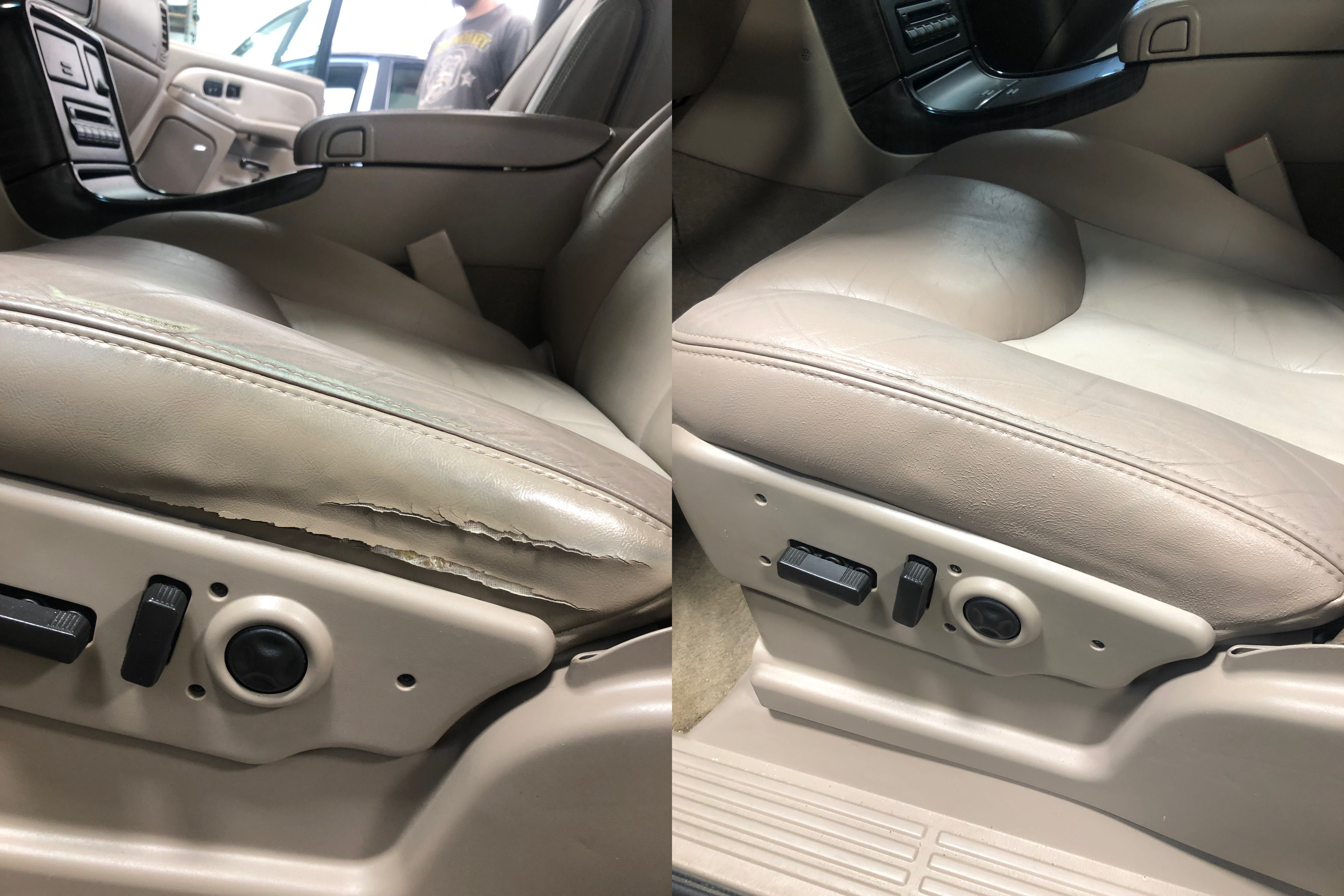 Recon interior - before and after