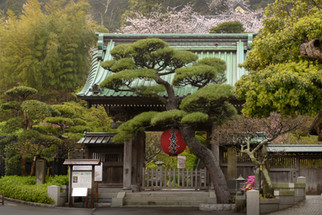 The Main Gate, Hasedera Temple, Kamakura, Japan