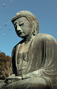 The Great Buddha (Daibutsu) , Kamakura