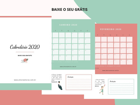 Calendário 2020 - Baixe grátis