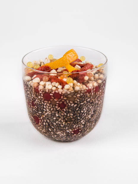 CHIA PUDDING WITH FRUIT CAVIAR