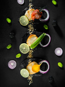 SCALLOPS & POWDERIZED LIME