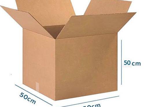 كرتون   50/50/50  مخصص للنقل والتخزين مناسب لوضع المفارش وادوات المطبخ