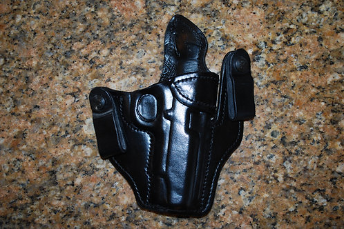 Inside the waist band  leather holster Wing style (IWB)
