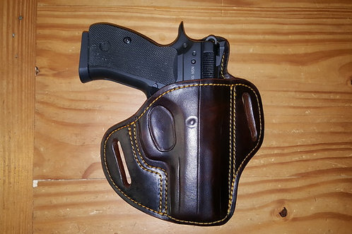 Pancake style leather holster  regular High ride