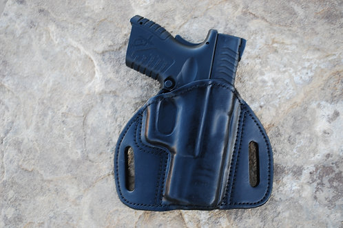 Pancake style leather holster  ULTRA High ride