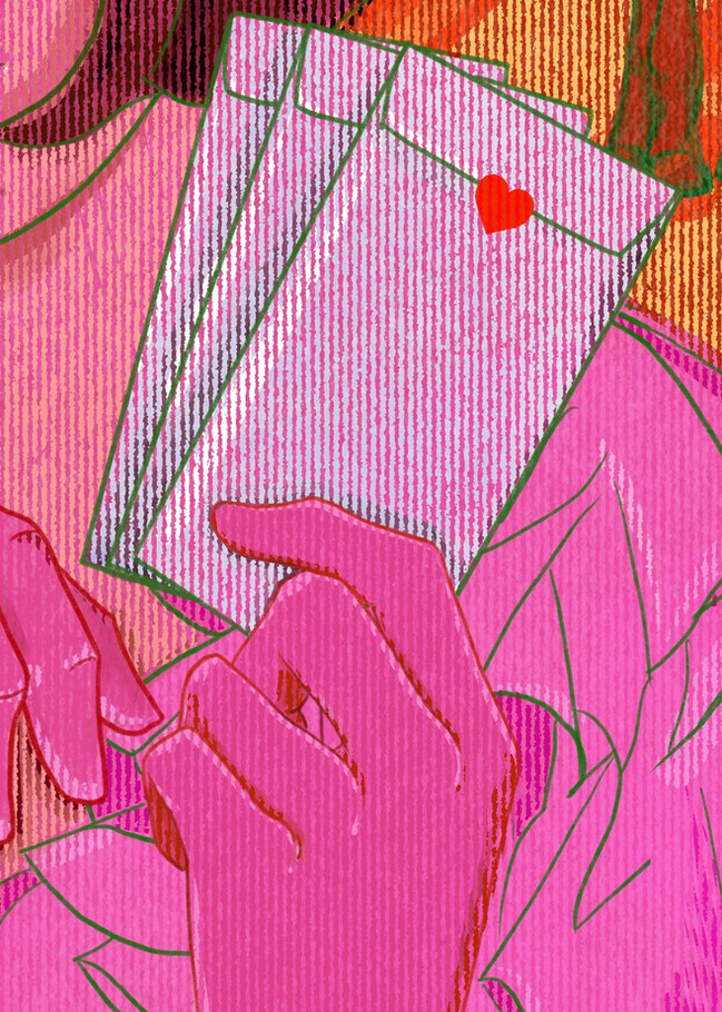 DESIRE TRIPLED IS LOVE, AND LOVE TRIPLED IS MADNESS (DETAIL)