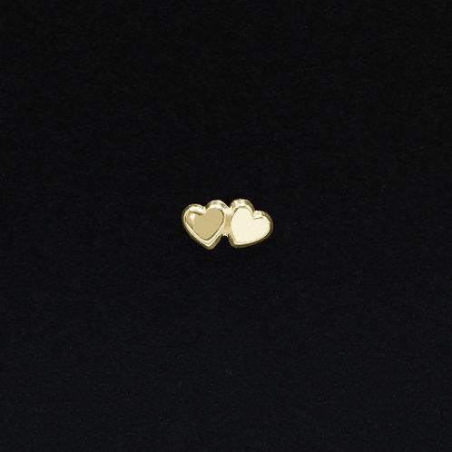 Doble corazón Oro 10k