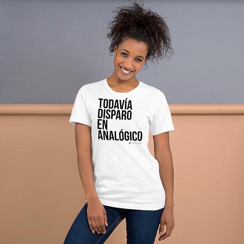 """Camiseta Mono """"TodaviaDisparoEnAnalogico"""""""
