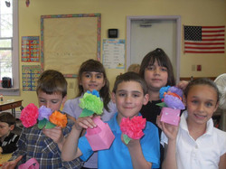 students with crafts