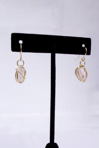 Rose Quartz Earrings // $12
