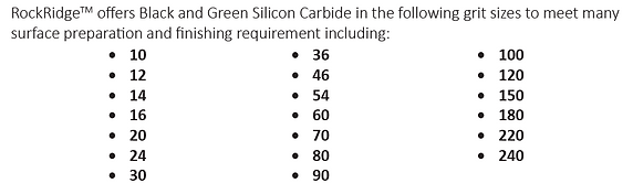 Silicon Carbide Grit Sizes