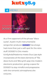KUTX Song of the Day: DOSSEY
