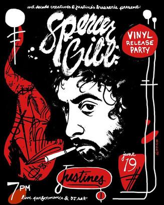 6/19/18 Spencer Gibb Vinyl Release Party @ Justine's Brasserie