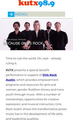 KUTX Austin Music Minute - Girls Rock