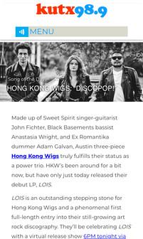 KUTX Song of the Day: Hong Kong Wigs