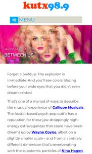 KUTX Austin Music Minute - Calliope Musicals