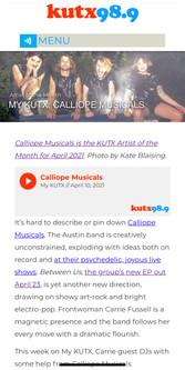 KUTX - Calliope Musicals