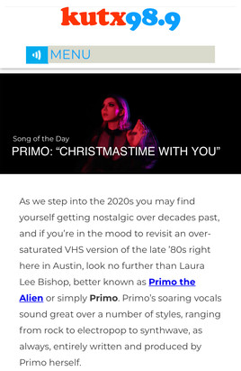 KUTX Song of the Day: Primo the Alien